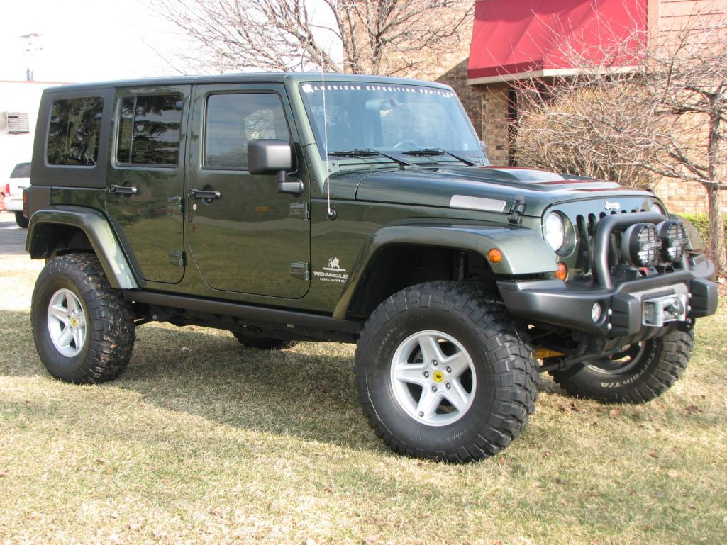 aev expedition jk jeep green sahara 4dr sold. Black Bedroom Furniture Sets. Home Design Ideas