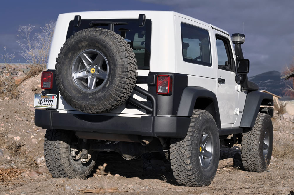 After Market Rear Tire Carrier On Stock Bumper Jk Forum